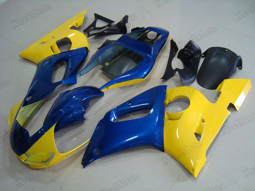 1999 2000 2001 2002 Yamaha R6 blue and yellow fairings and body kits, Suzuki 1999 2000 2001 2002 Yamaha R6 OEM replacement fairings and bodywork.