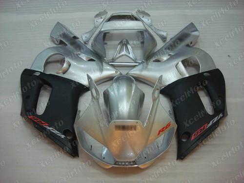 1999 2000 2001 2002 YAMAHA R6 silver and black fairing