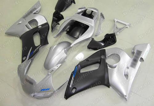 1999 2000 2001 2002 YAMAHA R6 silver and black fairing and bodywork