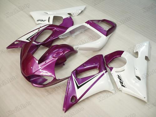 1999 2000 2001 2002 Yamaha R6 purple and white fairings and body kits, Suzuki 1999 2000 2001 2002 Yamaha R6 OEM replacement fairings and bodywork.