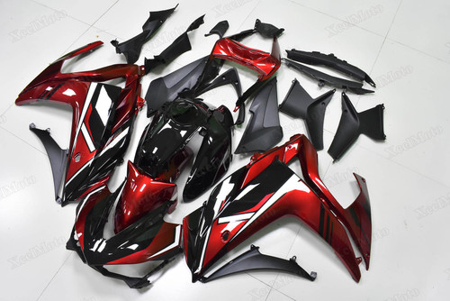 Yamaha R3 red and black fairings and body kits, Suzuki Yamaha R3 OEM replacement fairings and bodywork.