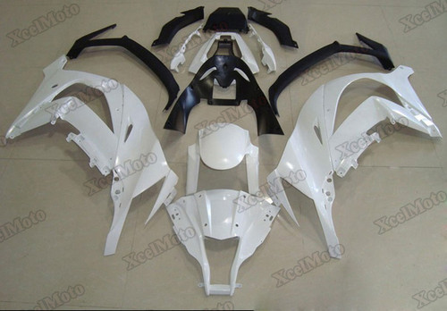 Kawasaki Ninja ZX10R pearl white fairings and body kits, Kawasaki 2011 2012 2013 2014 2015 Kawasaki Ninja ZX10R OEM replacement fairings and bodywork.