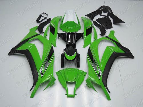 Kawasaki Ninja ZX10R green fairings and body kits, Kawasaki 2011 2012 2013 2014 2015 Kawasaki Ninja ZX10R OEM replacement fairings and bodywork.