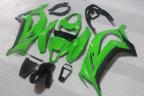 2011 2012 2013 201 2015 Kawasaki Ninja ZX10R green fairing.