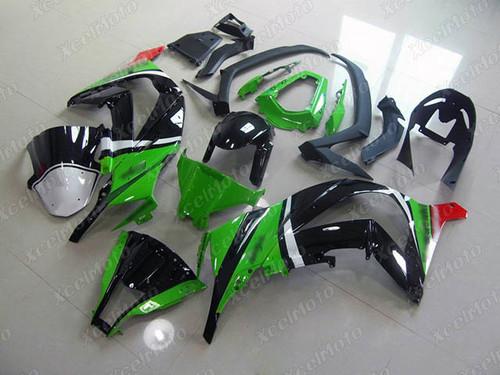 2011 2012 2013 2014 2015 Kawasaki Ninja ZX10R custom fairing green and black.