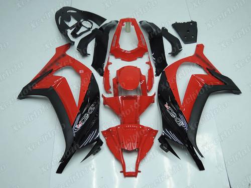 2011 2012 2013 2014 2015 Kawasaki Ninja ZX10R red and black fairing and body kit