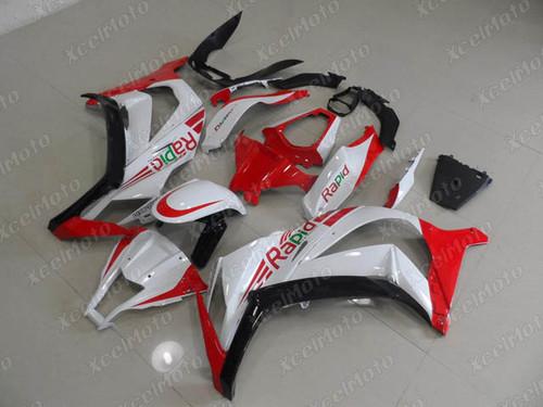 2011 2012 2013 2014 2015 Kawasaki Ninja ZX10R custom fairing red and white scheme
