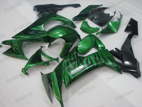 2008 2009 2010 Kawasaki Ninja ZX10R green and black