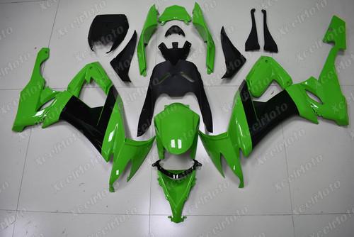 2008 2009 2010 Kawasaki Ninja ZX10R custom fairing green and black