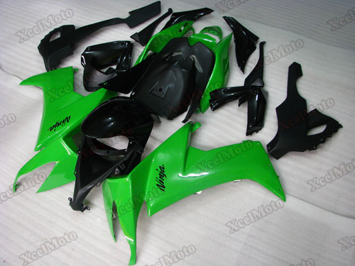 2008 2009 2010 Kawasaki Ninja ZX10R green and black fairings