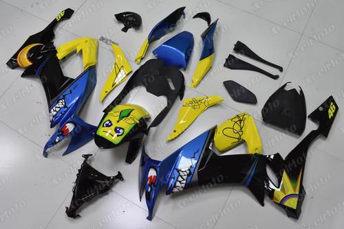 2008 2009 2010 Kawasaki Ninja ZX10R Rossi replica fairing