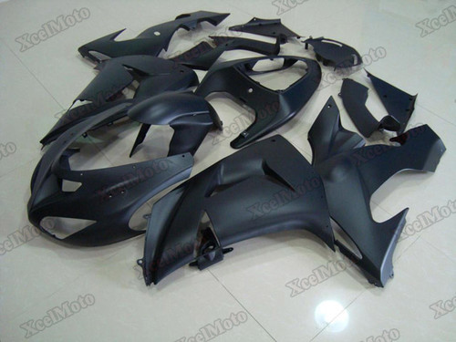 Kawasaki Ninja ZX10R matte black fairings and body kits, 2006 2007 Kawasaki Ninja ZX10R OEM replacement fairings and bodywork.
