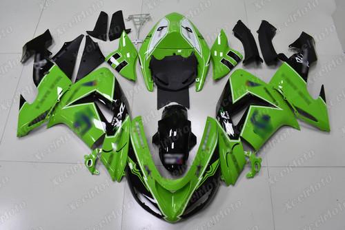 2006 2007 Kawasaki Ninja ZX10R green and black fairing