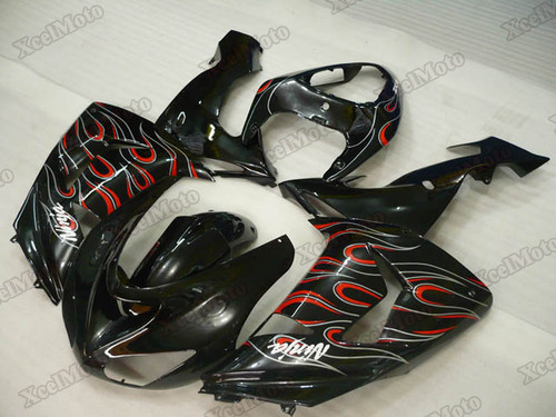2006 2007 Kawasaki Ninja ZX-10R ghost flame fairings