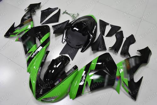 2006 2007 Kawasaki ZX10R green and black fairing kit