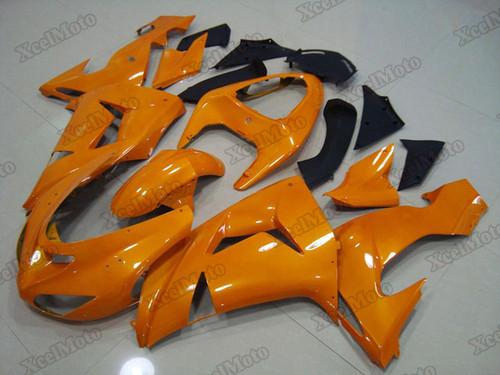 Kawasaki Ninja ZX10R orange fairings and body kits, 2006 2007 Kawasaki Ninja ZX10R OEM replacement fairings and bodywork.