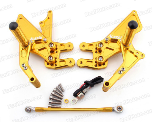 Motorcycle rear sets assembly for 2007 2008 Suzuki GSXR1000 are design to improve the ground clearance, crash worthiness and overall good looks of your bike