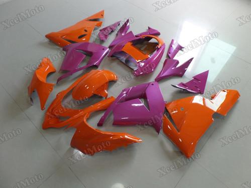 Kawasaki Ninja ZX10R orange and purple fairings and body kits, 2004 2005 Kawasaki Ninja ZX10R OEM replacement fairings and bodywork.