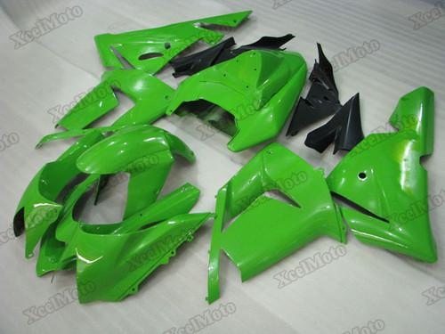 Kawasaki Ninja ZX10R green fairings and body kits, 2004 2005 Kawasaki Ninja ZX10R OEM replacement fairings and bodywork.