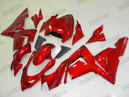 Kawasaki Ninja ZX10R candy red fairings and body kits, 2004 2005 Kawasaki Ninja ZX10R OEM replacement fairings and bodywork.