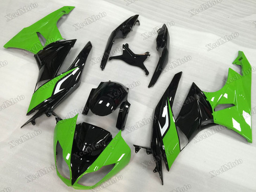 2009 2010 2011 2012 Kawasaki Ninja ZX6R green and black