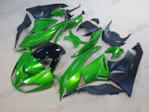 2009 2010 2011 2012 Kawasaki Ninja ZX6R green and black bodywork