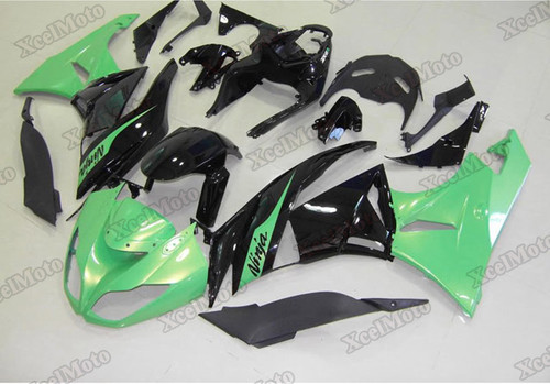 2009 2010 2011 2012 Kawasaki Ninja ZX6R green and black