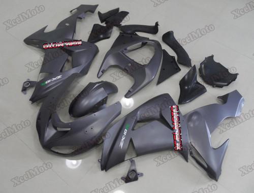 Kawasaki Ninja ZX6R black fairings and body kits, 2007 2008 Kawasaki Ninja ZX6R OEM replacement fairings and bodywork.