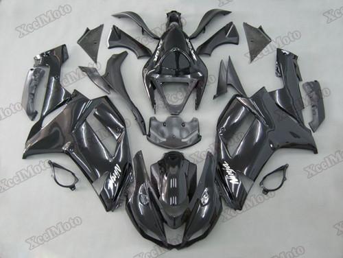 Kawasaki Ninja ZX6R gloss black fairings