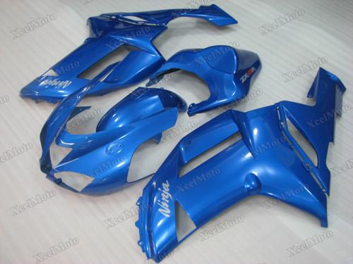 2007 2008 Kawasaki Ninja ZX-6R baby blue fairings