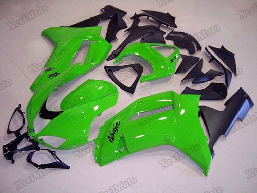 2007 2008 Kawasaki Ninja ZX6R green and black fairings