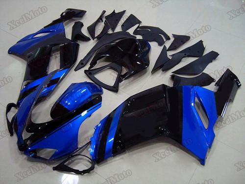 2007 2008 Kawasaki Ninja ZX6R blue and black fairings