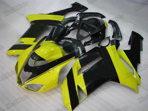 Kawasaki Ninja ZX6R yellow and black fairings and body kits, 2007 2008 Kawasaki Ninja ZX6R OEM replacement fairings and bodywork.