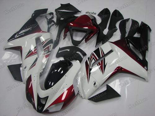2007 2008 Kawasaki Ninja ZX6R white and red