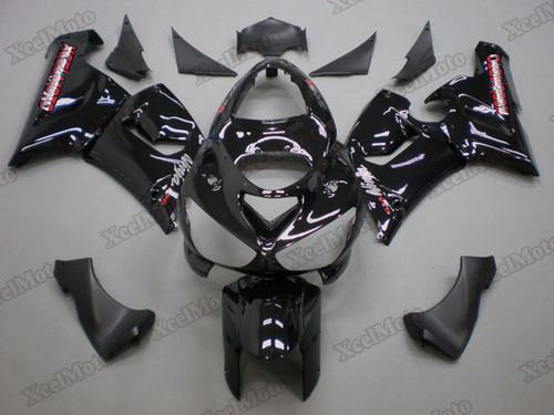 Kawasaki Ninja ZX6R gloss black fairings and body kits, 2005 2006 Kawasaki Ninja ZX6R OEM replacement fairings and bodywork.