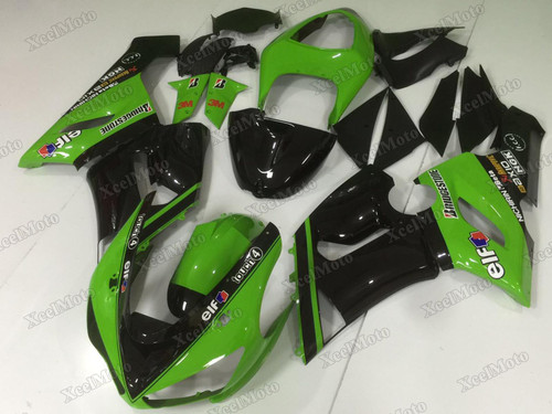 2005 2006 Kawasaki Ninja ZX6R green monster scheme fairings