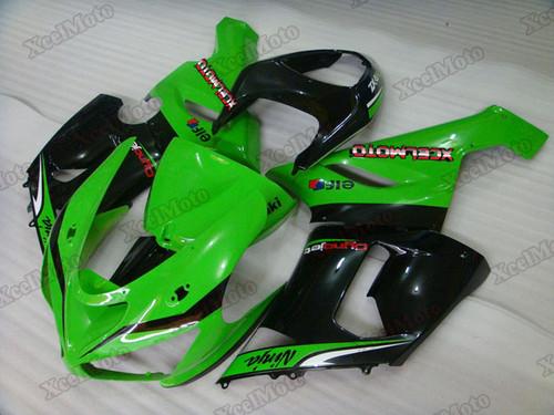2005 2006 Kawasaki Ninja ZX6R green monster scheme fairings
