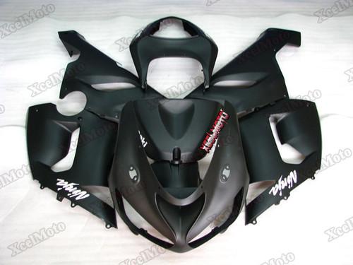 2005 2006 Kawasaki Ninja ZX6R matte black fairings