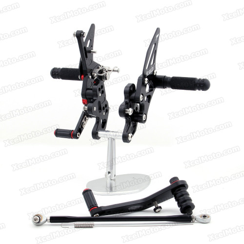 Motorcycle rear sets assembly for 2006 2007 2008 2009 2010 Suzuki GSXR600/750 are design to improve the ground clearance, crash worthiness and overall good looks of your bike.