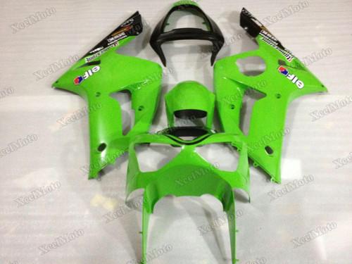 2003 2004 Kawasaki Ninja ZX6R green and black fairing
