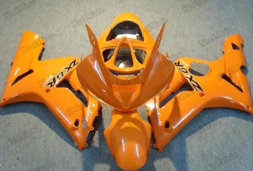 Kawasaki Ninja ZX6R orange fairings and body kits, 2003 2004 Kawasaki Ninja ZX6R OEM replacement fairings and bodywork.
