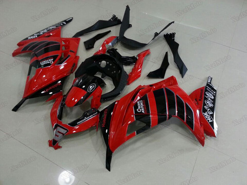 aftermarket fairings and bodywork for Kawasaki Ninja 300 red and black