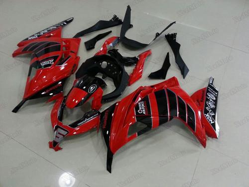 aftermarket fairings and bodywork for Kawasaki Ninja 300 red and black