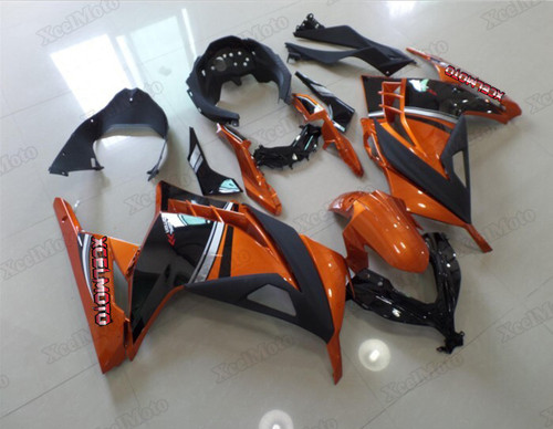 Kawasaki Ninja 300 orange and black fairings and body kits, 2013 to 2017 Kawasaki Ninja 300 OEM replacement fairings and bodywork.