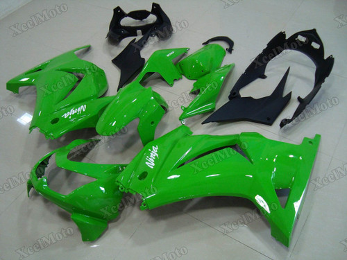Kawasaki Ninja 250R EX250 green fairings and body kits, 2008 to 2012 Kawasaki Ninja 250R EX250 OEM replacement fairings and bodywork.