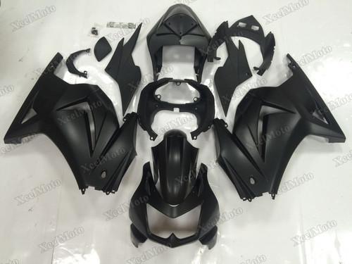 Kawasaki Ninja 250R EX250 matte black fairings and body kits, 2008 to 2012 Kawasaki Ninja 250R EX250 OEM replacement fairings and bodywork.