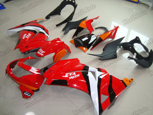Kawasaki Ninja 250R EX250 EVA Racing fairings and body kits, 2008 to 2012 Kawasaki Ninja 250R EX250 OEM replacement fairings and bodywork.
