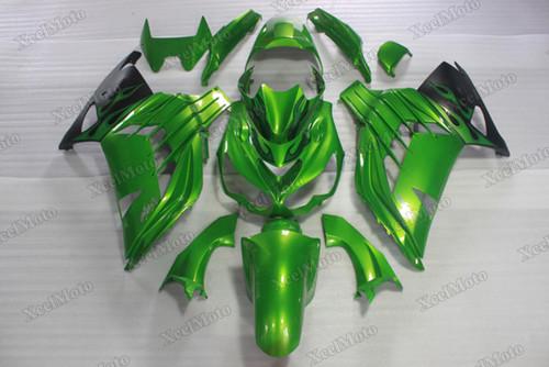 Kawasaki Ninja ZX14R ZZR1400 green fairings and body kits, 2012 to 2018 Kawasaki Ninja ZX14R ZZR1400 OEM replacement fairings and bodywork.