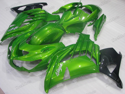 Kawasaki Ninja ZX14R ZZR1400 green fairings and body kits, 2012 to 2018 Kawasaki Ninja ZX14R ZZR1400 OEM replacement fairings and bodywork.
