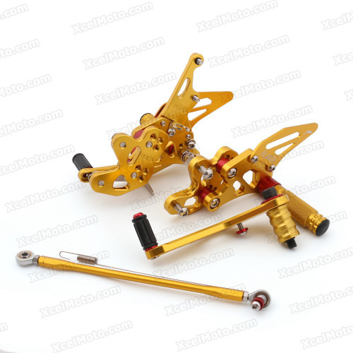 Motorcycle rear sets assembly for 2011 2012 2013 2014 2015 Suzuki GSXR600/750 are design to improve the ground clearance, crash worthiness and overall good looks of your bike.